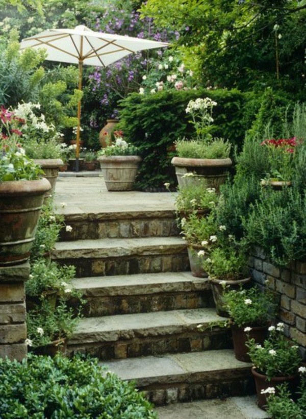 Cool Garden Stair Ideas For Inspiration (1)