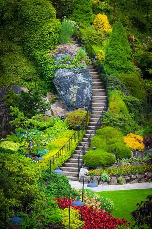 Cool Garden Stair Ideas For Inspiration (11)
