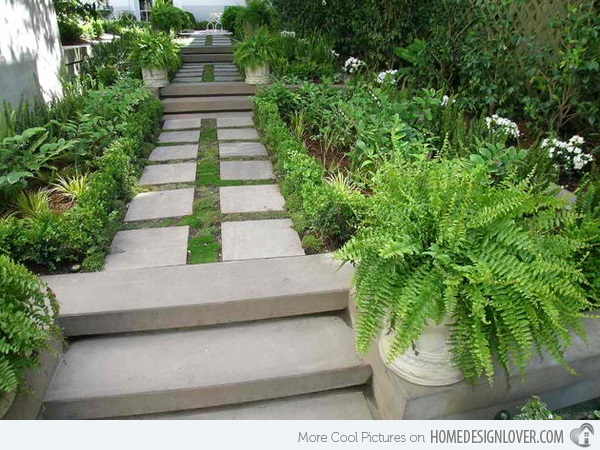 Cool Garden Stair Ideas For Inspiration (16)