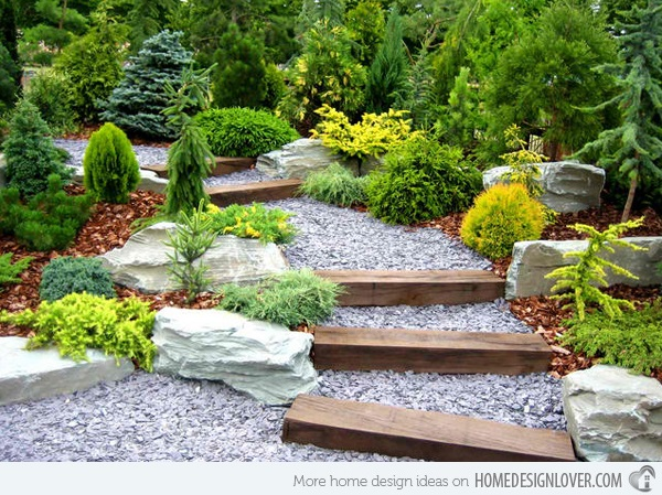 Cool Garden Stair Ideas For Inspiration (18)