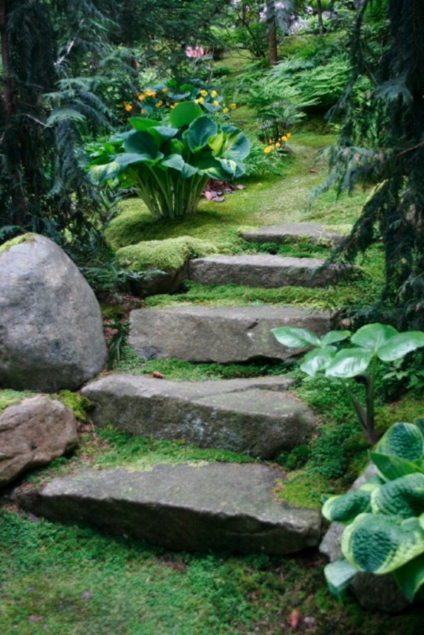 Cool Garden Stair Ideas For Inspiration (21)