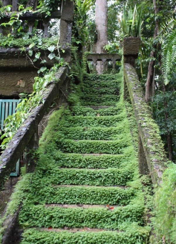 Cool Garden Stair Ideas For Inspiration (23)