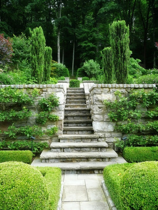 Cool Garden Stair Ideas For Inspiration (25)
