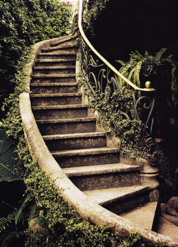 Cool Garden Stair Ideas For Inspiration (26)