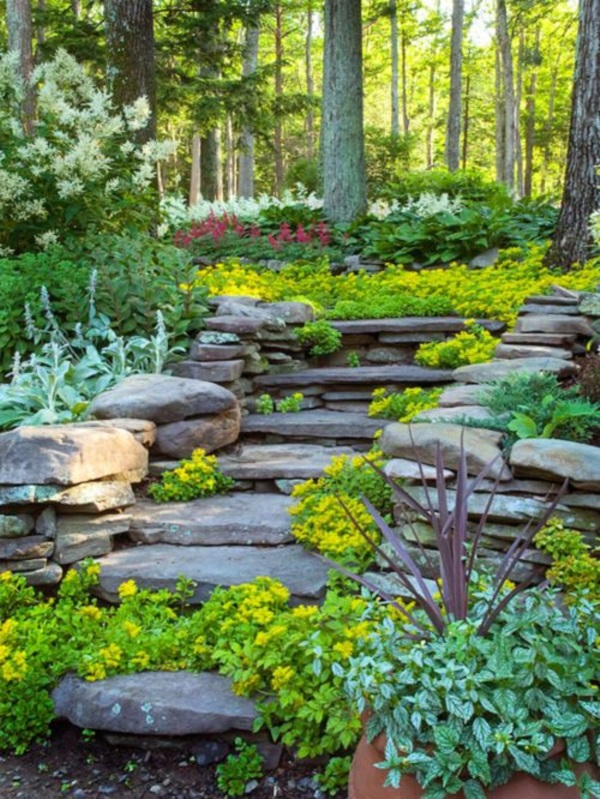 Cool Garden Stair Ideas For Inspiration (28)