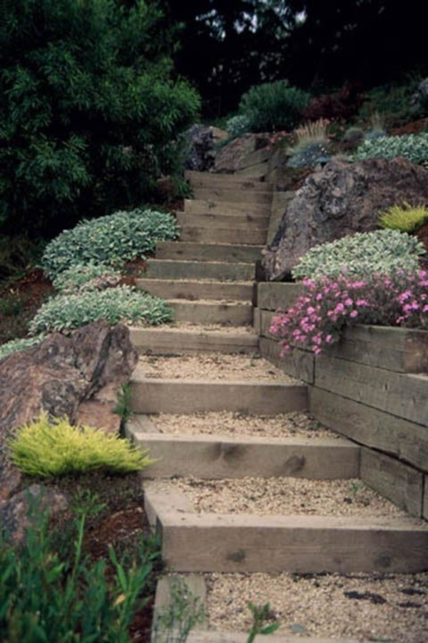 Cool Garden Stair Ideas For Inspiration (31)