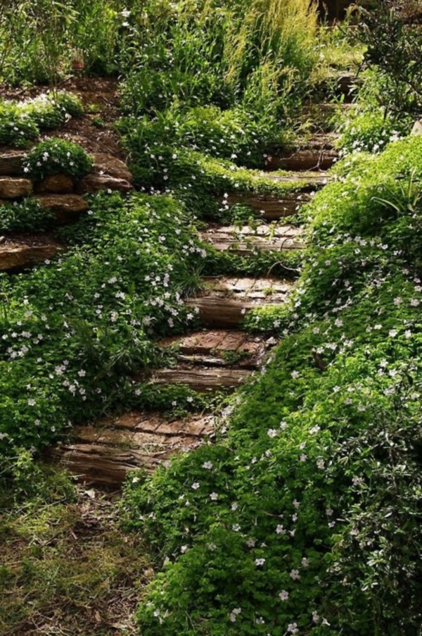 Cool Garden Stair Ideas For Inspiration (33)