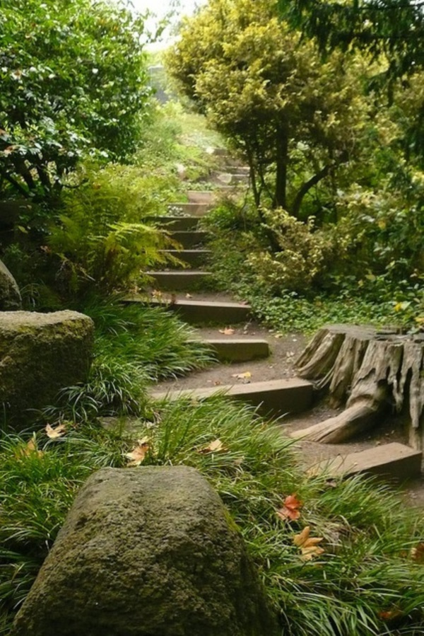 Cool Garden Stair Ideas For Inspiration (38)