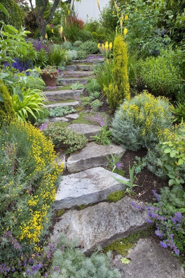 Cool Garden Stair Ideas For Inspiration (41)