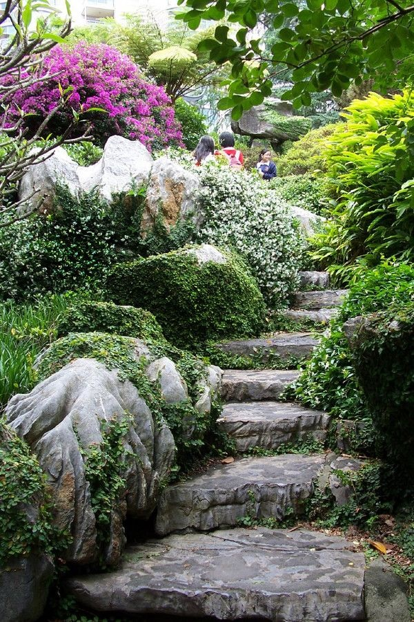 Cool Garden Stair Ideas For Inspiration (42)