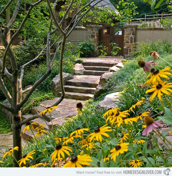 Cool Garden Stair Ideas For Inspiration (8)