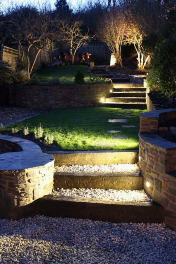 Cool Garden Stair Ideas For Inspiration (9)