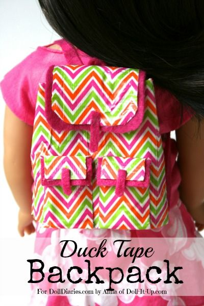 duct tape crafts backpack