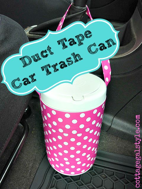 duct tape crafts car trash can