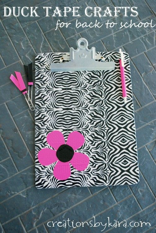 duct tape crafts clipboard