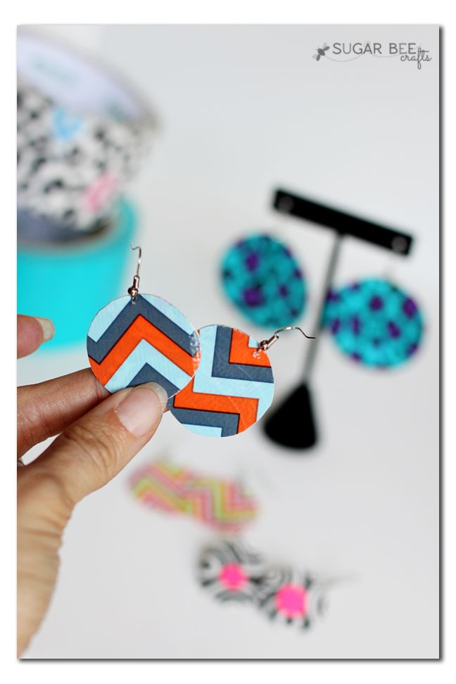 duct tape crafts ear rings