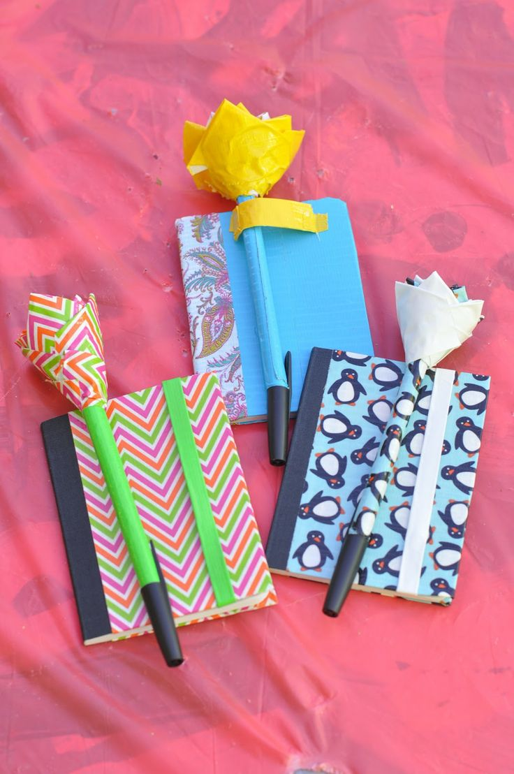 duct tape crafts mini note books