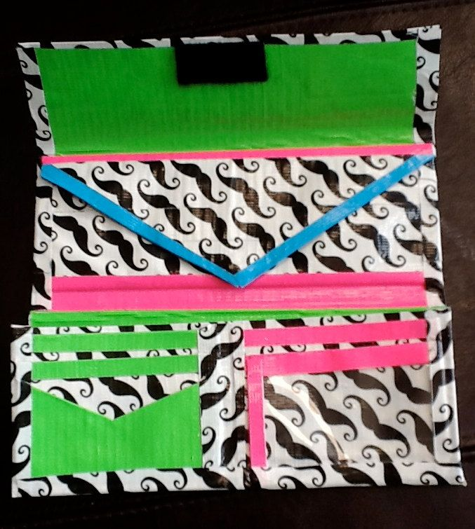 duct tape crafts mustache wallets