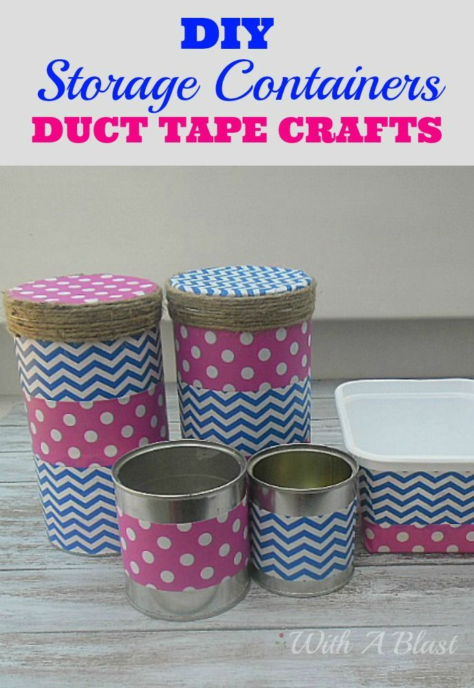 duct tape crafts storage containers