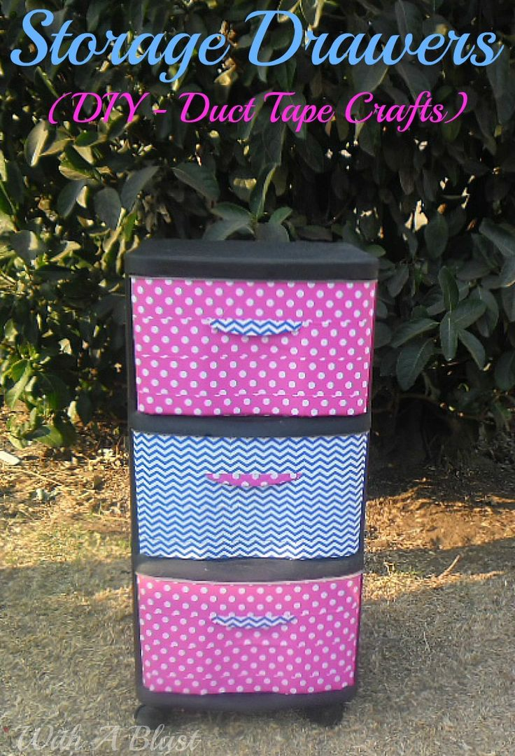 duct tape crafts storage drawers