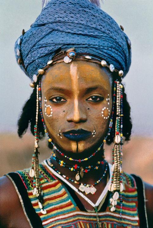 AFRICA-10015, Young Wodaabe Man, Tahoua, Niger, 1986, NIGER-10003