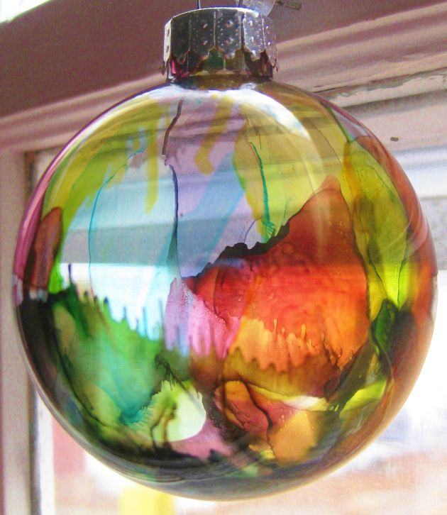 alcohol ink on glass 5