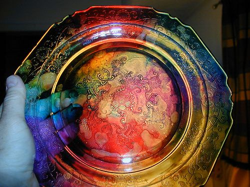 alcohol ink on glass 9