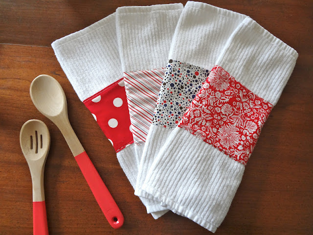 diy embellished tea towels