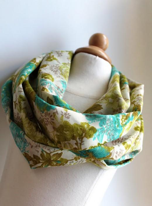 diy spring infinity scarf