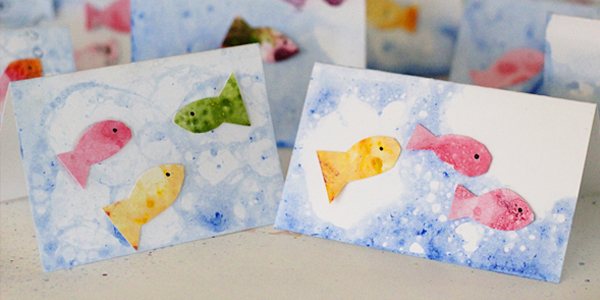 kids craft ideas bubble fish art