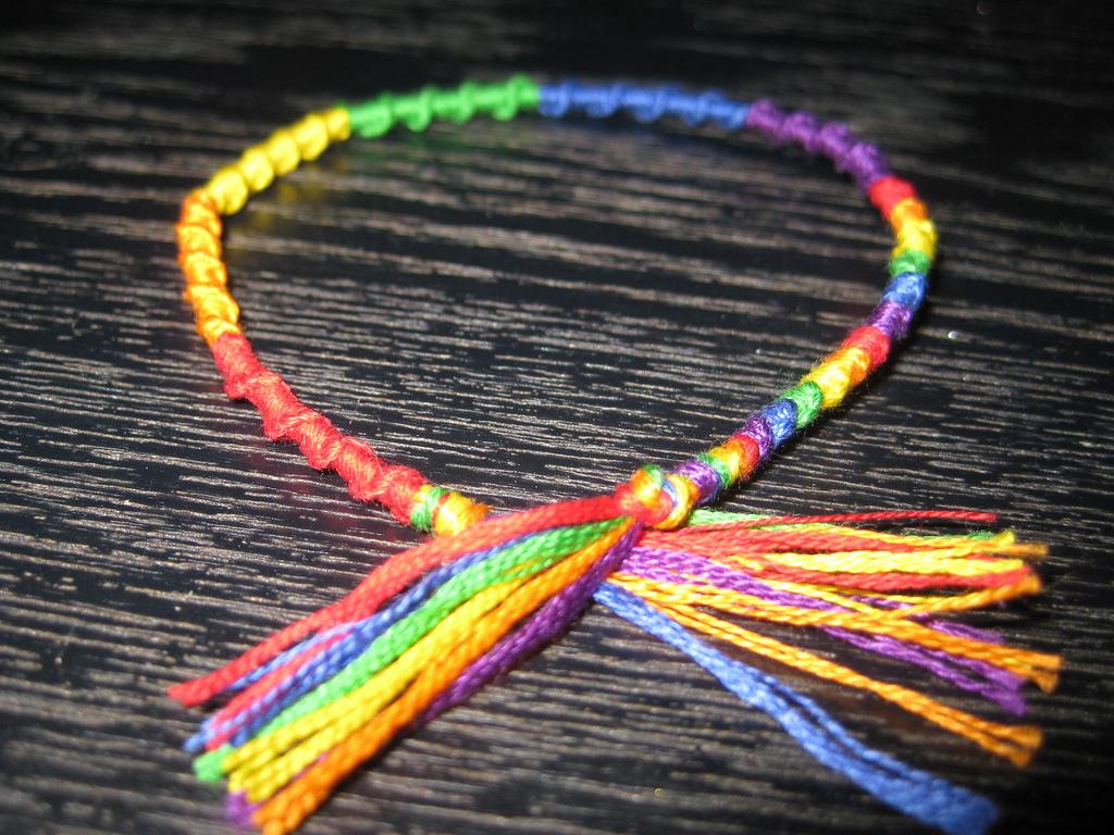 knotted frienship bracelet