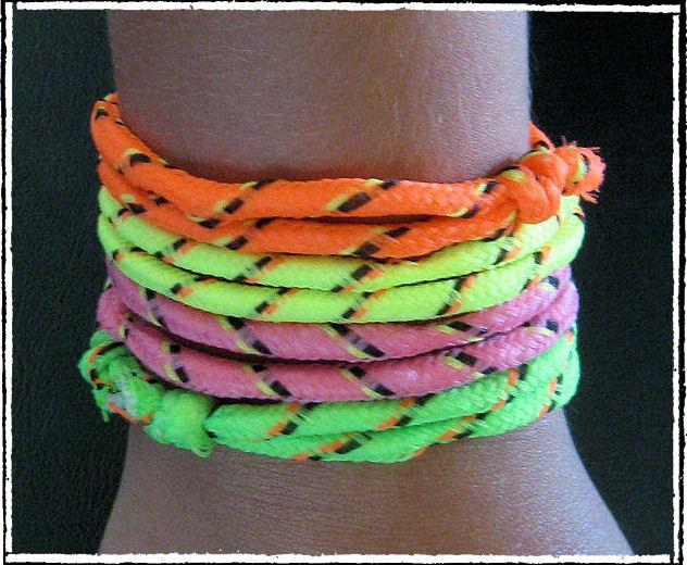 neon rope bracelets