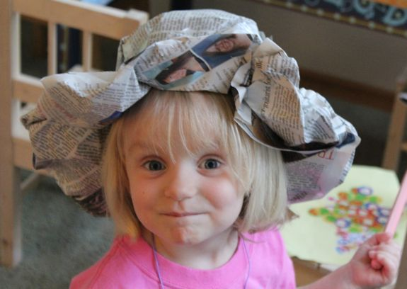 newspaer craft ideas hats