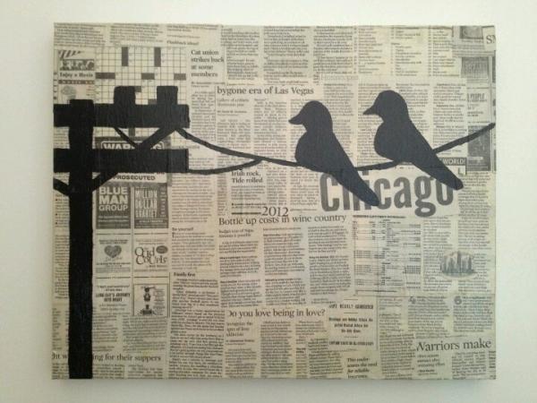 newspaper craft ideas art