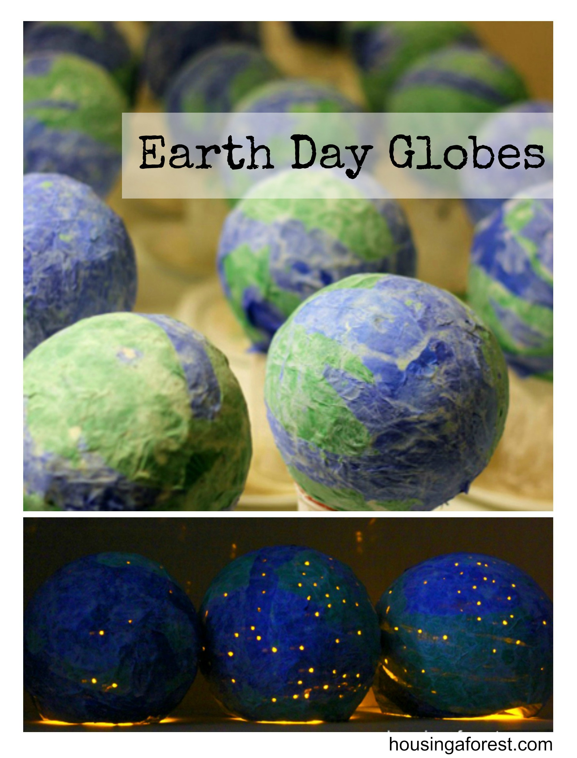 newspaper craft ideas earth globes