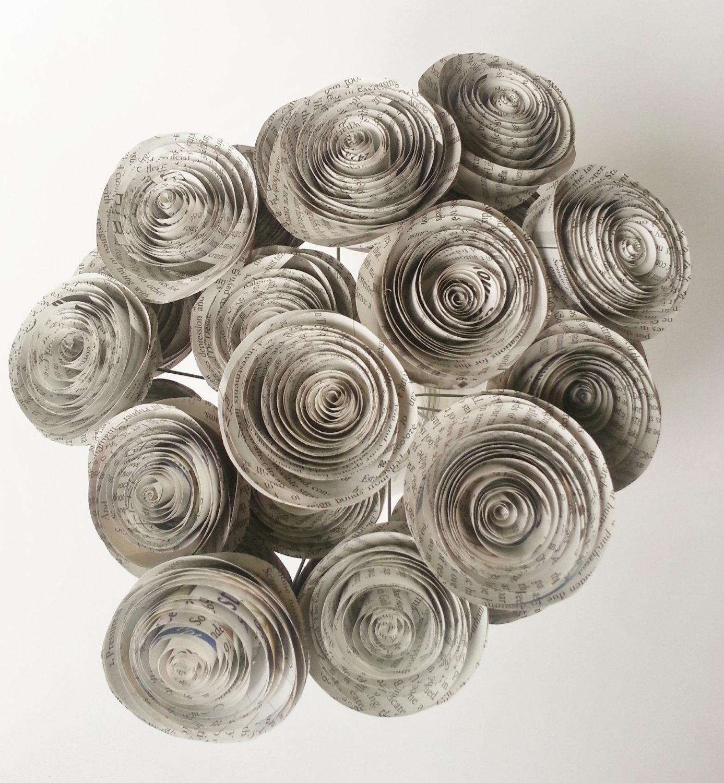 newspaper craft ideas flowers