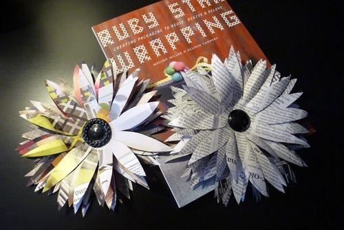 newspaper craft ideas large flowers