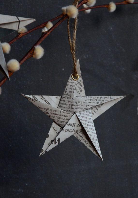 newspaper craft ideas star