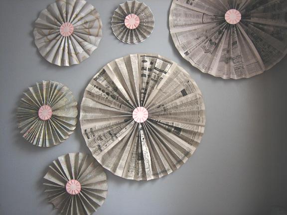 newspaper craft ideas wall art