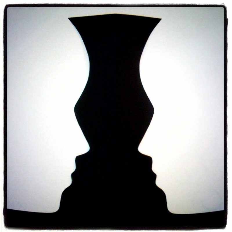 optical illusion rubin vase