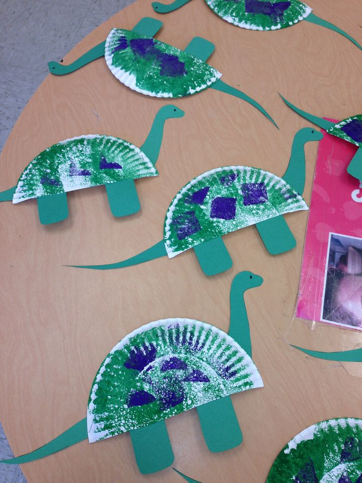 paper plate craft dinosaurs