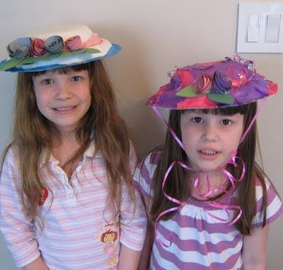 paper plate craft easter hats