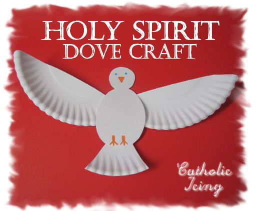 paper plate craft holy spirit dove