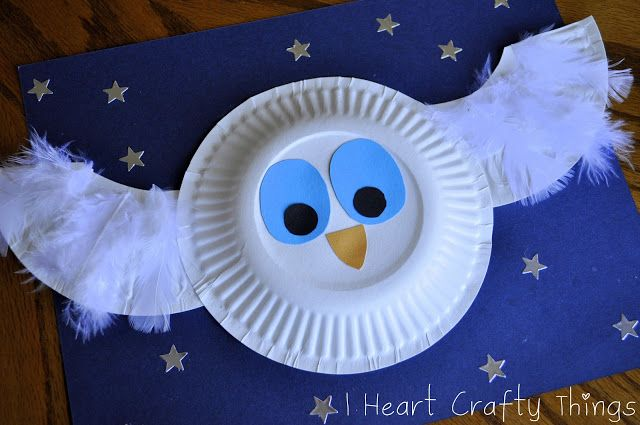 paper plate crafts owl 2