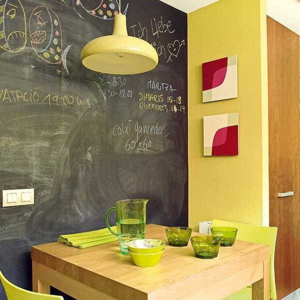 Fancy Chalkboard Wall Decorating Ideas Adornment - Wall Art Design ...