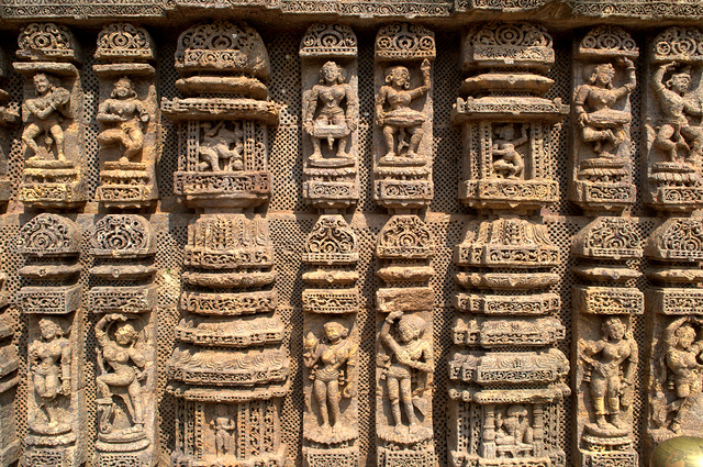 Wall carvings Sun Temple
