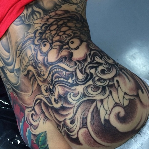 foo dog tattoo designs (14)