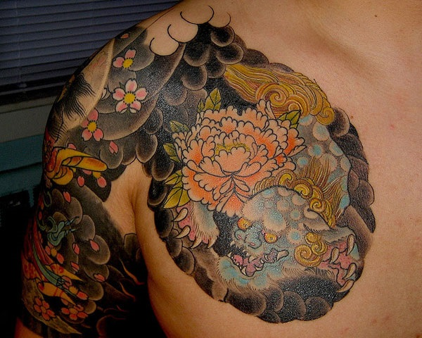 foo dog tattoo designs (16)