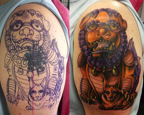 foo dog tattoo designs (18)