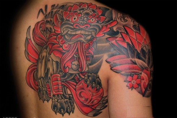 foo dog tattoo designs (27)